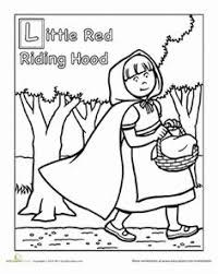 red riding hood coloring pages wolf pretended