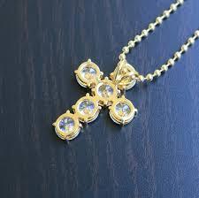 cross necklace with diamonds images Princess cut lab diamond 14k gold cross necklace men 39 s hip hop jpg