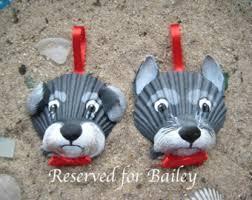 reserved listing seashell schnauzer ornaments crafts