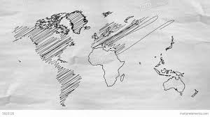 World Map Artwork by World Map Drawing Alpha Channel 4k Resolution Uh Stock Animation
