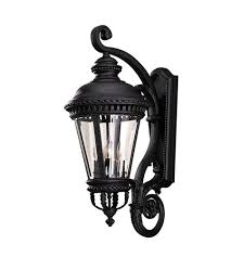 Murray Feiss Wall Sconce Feiss Ol1904bk Castle 4 Light 32 Inch Black Outdoor Wall Sconce
