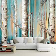 Wallpaper Livingroom by Online Get Cheap Birch Tree Wallpaper Aliexpress Com Alibaba Group