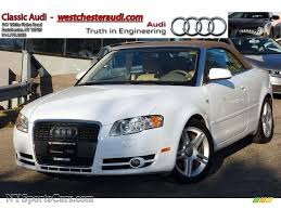 white audi a4 convertible for sale 2007 audi a4 2 0t quattro cabriolet in ibis white 033594