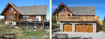 house renovation before and after renovating a neglected log home