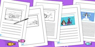 the little mermaid story writing frames writing template