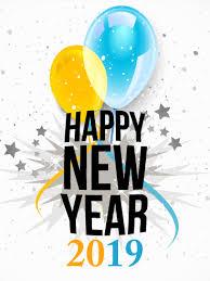Happy New Year Card 2019  Birthday  Greeting Cards by Davia