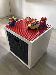 duplo table with storage duplo play and store box ikea hackers