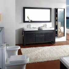 brilliant bathroom vanity mirrors decoration long white fur rug