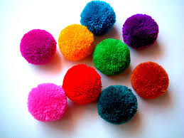 yarn pom pom poms handmade pompom yarn balls pink