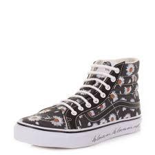 womens vans boots vans sk8 slim me black high top hi top ankle boots size 3 8