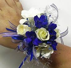 royal blue corsage prom flowers january 2012
