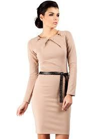 rochii office rochie office eleganta din jerse de culoare bej rochii de ocazie