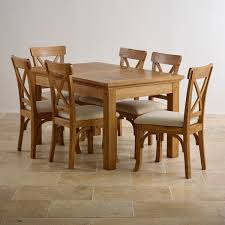 Taunton Dining Set Extending Dining Table In Rustic Oak  Chairs - Oak dining room set