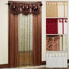 Sheer Curtains With Valance Sheer Curtain Panel With Attached Valance