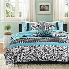 Cheetah Twin Comforter Shop Mizone Chloe Teal Bed Covers The Home Decorating Company