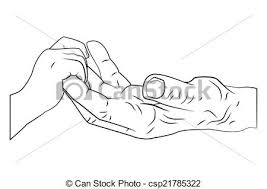 vector illustration of old people care hand csp21785322 search