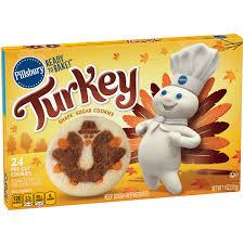 pillsbury ready to bake turkey shape sugar cookies 24 ct box