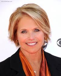 short hairstyles with height katie couric with short hair for a professional look