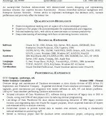 Database Administrator Resume Examples by Extraordinary Ideas Resume Database 3 Database Administrator