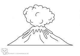 coloring pages volcano volcano 8 nature printable coloring pages