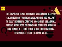 how do you make the color gold with food coloring youtube