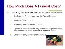 casket cost planning a funeral presented by name of funeral home ppt