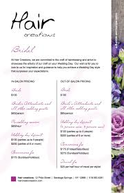 makeup contracts for weddings saying thanks with free shaves blowouts bumble and bumble