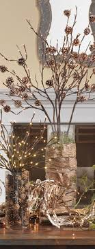 lighted tree branches lighted pinecone branch centerpiece trendy tree
