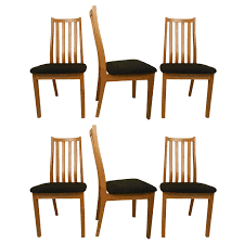 Mid Century Dining Table And Chairs Six Danish Midcentury Dining Chairs Tangso Mobler Boliginvenvar