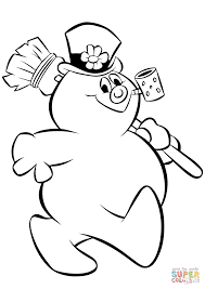 printable cartoon frosty snowman coloring pages kids