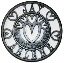iron wedding anniversary gifts anniversary trivets personalised bespoke gifts ideal for the 6th