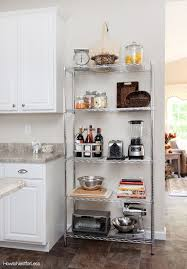 Kitchen Wall Shelving Units Kitchen Amazing Commercial Powder Coating Wire Rack Online Decor