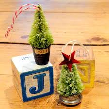 diy tree ornaments made with a thimble and salt shaker