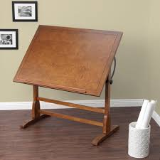 Wood Drafting Table Studio Designs 42 Inch Classic Vintage Oak Wood Drafting Table
