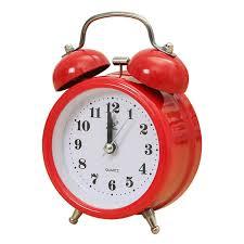 best light alarm clock portable fashion classic silent double bell alarm clock quartz