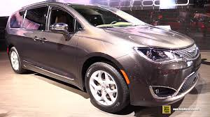 chrysler car interior 2017 chrysler pacifica limited exterior and interior walkaround