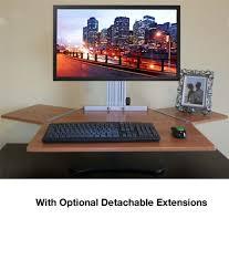 Standing Desk Kangaroo Kangaroo Elite Desktop Sit Stand Workstation Dual Monitor