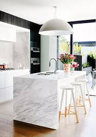 white marble kitchen island 19 of the most stunning modern marble kitchens marbles kitchens