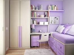 licious purple accents wall paint for teenage bedroom ideas