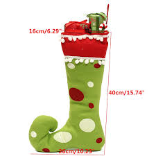 merry christmas gift boots decoration polyester tree hanging socks