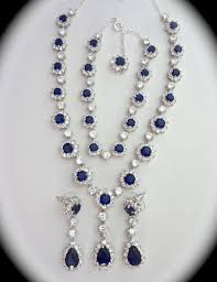 jewelry blue sapphire necklace images 44 perfect bridal jewellery collections in 2018 jpg