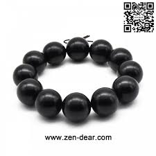 black prayer beads bracelet images Zen dear unisex natural ebony wood buddhist prayer bead necklace jpg