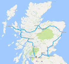 Road Trip Map Planning A Road Trip Scotland