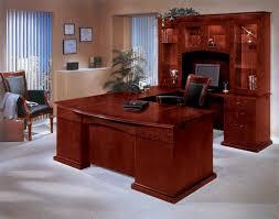 U Shaped Home Office Desk Realspace Broadstreet Executive U Shaped Office Desk With Matching