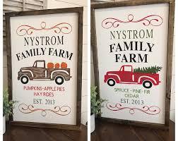 pumpkin patch sign tree farm sign custom last name
