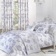 toile blue luxury jacquard duvet cover julian charles