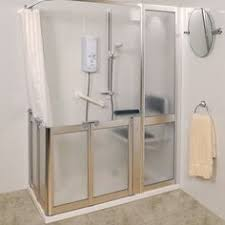 Disabled Half Height Shower Doors Contour Corner Access Wf1 Luxe Silver Half Height Shower Doors
