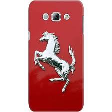 ferrari horse logo dailyobjects ferrari rosso reflection case for samsung galaxy a8