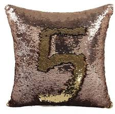number mermaid throw pillows reversible sequin decorative couch
