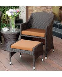 great deals on furniture of america olivanne 2 piece espresso wicker